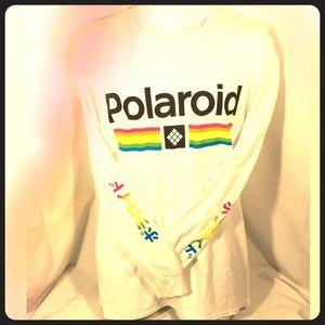 NEW Polaroid T Shirt Long Sleeve Japanese Rainbow